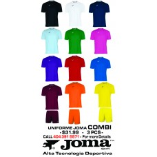 COMBI JOMA UNIFORM  12 COLORS AVAILABLE